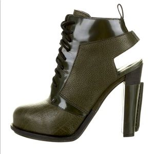 ALEXANDER WANG green leather boots